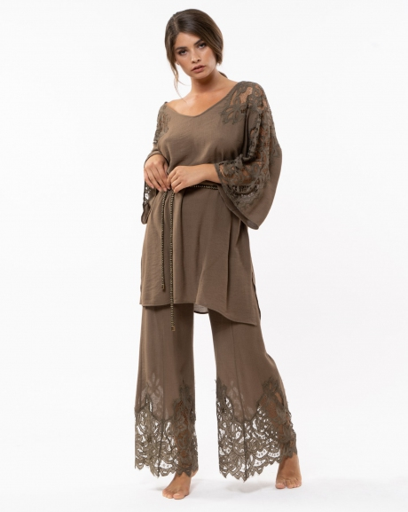 Lace long trousers