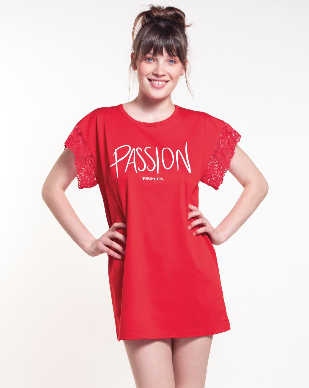 Maxi t-shirt rossa Passion